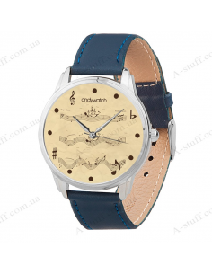 """Wristwatch """"Floating notes"""""""