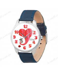 "Wristwatch ""Warm heart"""