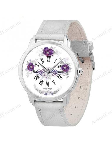 """Часы наручные """"Фиолетовые цветы"""""""