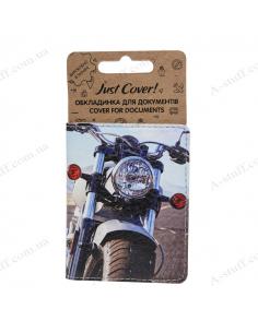 """Обкладинка на id паспорт екошкіра """"Мотоцикл"""""""