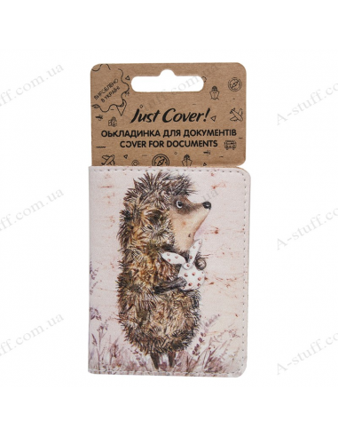 """Cover on the id passport eco leather """"The hedgehog in the fog"""""""
