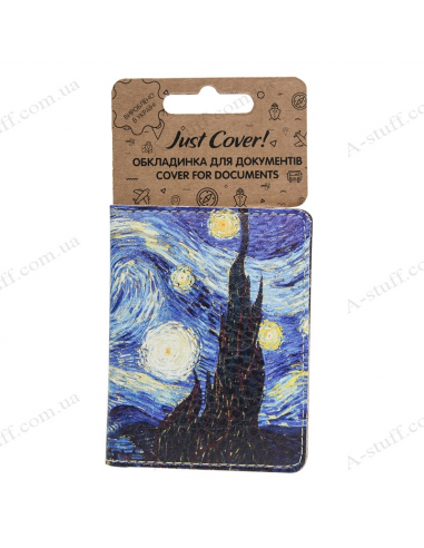 """Cover on the id passport eco leather """"Van Gogh"""""""