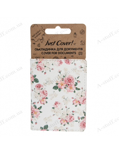 """Cover on the id passport eco leather """"Bouquet"""""""