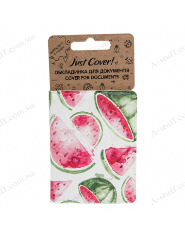"""Cover on the id passport eco leather """"Watermelons"""""""