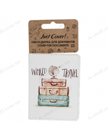 """Cover on the id passport eco leather """"World travel"""""""