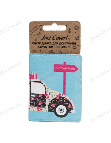 """Cover on the id passport eco leather """"Retro car"""""""