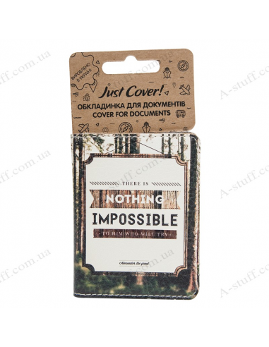 """Cover on the id passport eco leather """"Nothing impossible"""""""