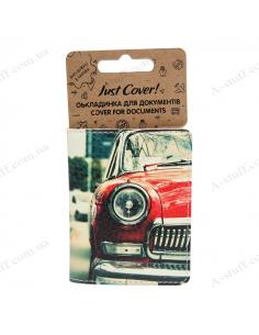 """Обкладинка на id паспорт екошкіра """"Mini Cooper"""""""