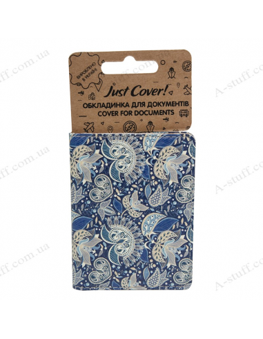 """Cover on the id passport eco leather """"Pattern blue"""""""