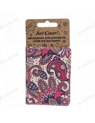 "Cover on the id passport eco leather ""Pattern Purple"""