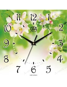 """Настінний годинник """"Квітуча весна"""""""