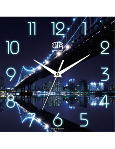 "Wall clock ""Night Bridge"""