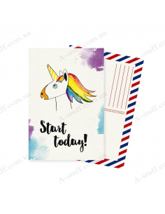 "Postcard ""Start Today"""