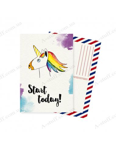 "Postcard ""Start Today"""
