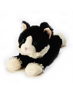 """Іграшка грілка """"Кошеня чорне, що лежить"""""""