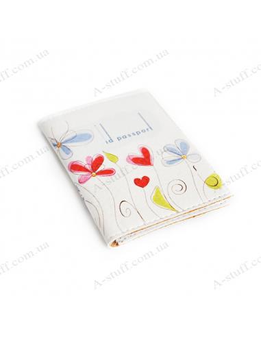 """Обложка для id паспорта """"Цветы на белом фоне"""""""