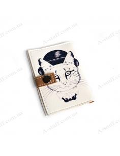 """Обкладинка для id паспорта """"Кіт у котелку"""""""