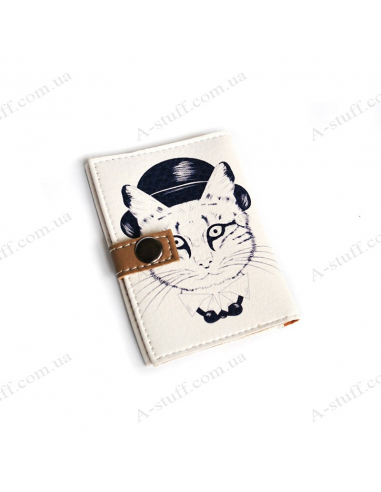 """Cover for the id passport """"Cat in the bowler hat"""""""