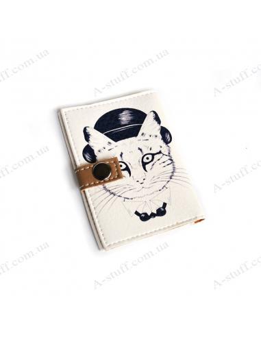 """Обложка для id паспорта """"Кот в котелке"""""""