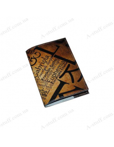 """Leather cover for passport """"Gabriola"""""""