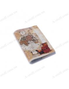 """Обкладинка для паспорта шкіра """"Карта"""""""