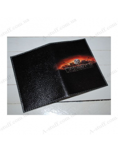 "Cover for passport leather ""World of tanks"""