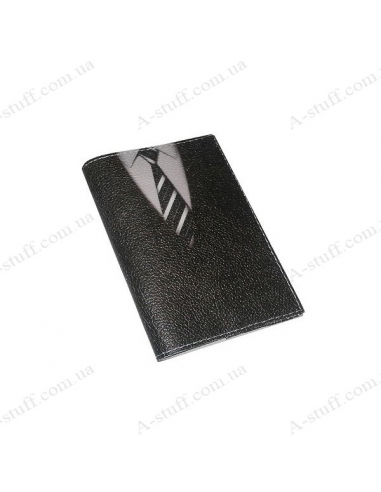 "Обкладинка для паспорта шкіра ""Краватка"""