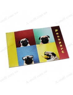 """Cover for passport leather """"Pug"""""""