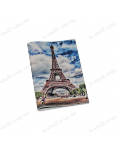 "Cover for passport leather ""Eiffel Tower"""