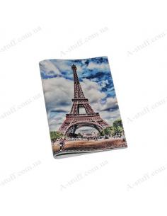 """Обложка для паспорта кожа """"Эйфелева башня"""""""