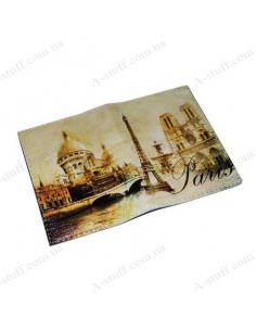 "Cover for passport leather ""Vintage Paris"""