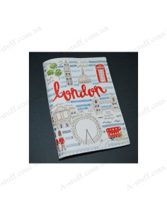 """Cover for passport leather """"Walking Through London"""""""