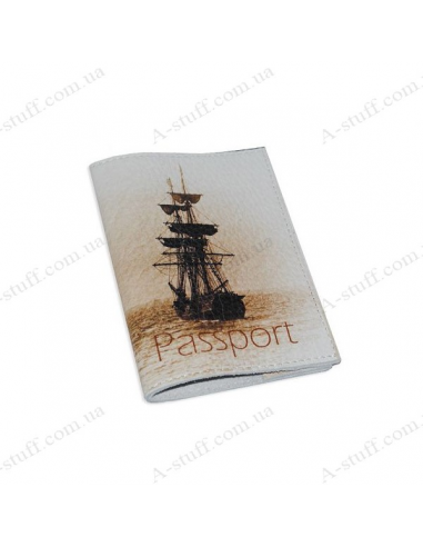 "Cover for passport leather ""Ship"""