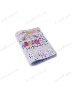 """Обложка для паспорта кожа """"Amsterdam"""""""