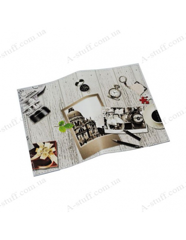 """Cover for passport leather """"Black and white photo"""""""