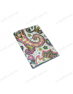 """Cover for passport leather """"Pattern Cucumber"""""""