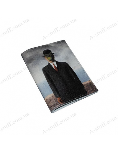 """Cover for passport leather """"Son of man"""""""