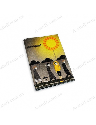 "Cover for passport leather ""Sunny Man"""