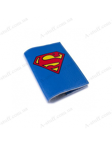 "Cover for passport leather ""Superman"""