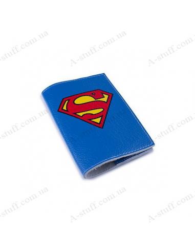 """Обложка для паспорта кожа """"Супермен"""""""