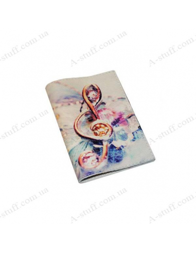 "Cover for passport leather ""Treble clef"""