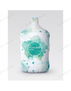 """Pouch for bottle """"No water, no life"""""""