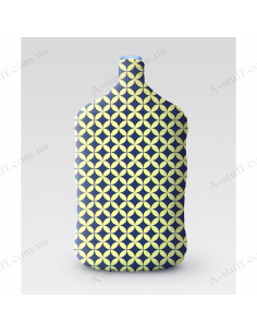 """Pouch for bottle """"Blue with yellow rings"""""""