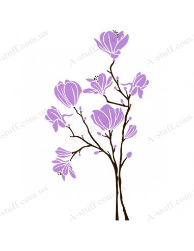 Вінілова наклейка Magnolia Light Violet