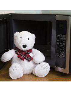"""Toy warmer """"Polar bear in a scarf"""""""