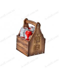 """Ящик для пива """"Home is where the Beer is"""""""