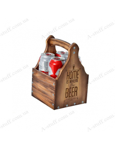 "Ящик для пива ""Home is where the Beer is"""
