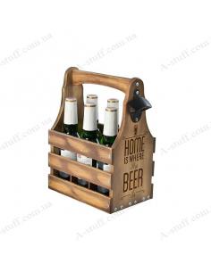 """Ящик для пива 0.33 """"Home is where the Beer is"""""""