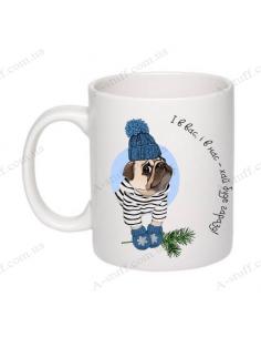 "Cup with a pug ""Okay"""