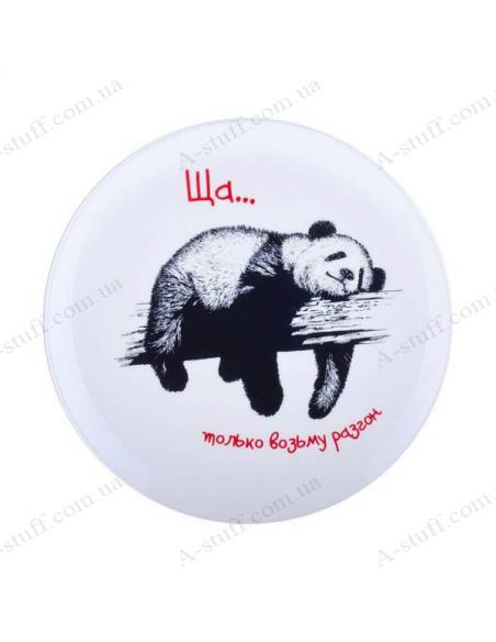 "Plate ""Panda - only take overclocking"""